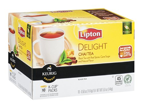 Lipton Keurig Brewed Delight Chai Tea 5 Oz (Pack Of 18)