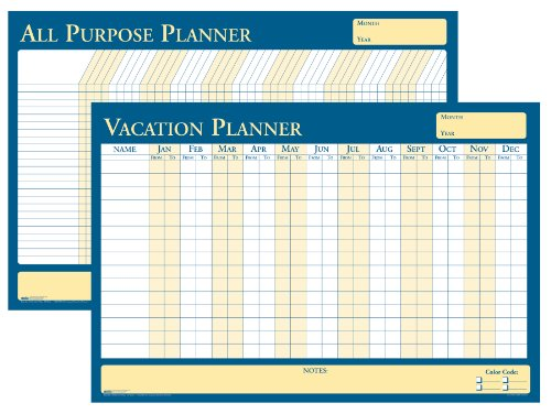 House of Doolittle All Purpose/Vacation Reversible Laminated Planner, 26 x 24 InchNon-Dated with Write on/Wipe off Feature, Recycled (HOD639)