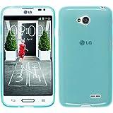 Silikon Hülle für LG L70 - transparent türkis - Cover PhoneNatic Schutzhülle + Schutzfolien