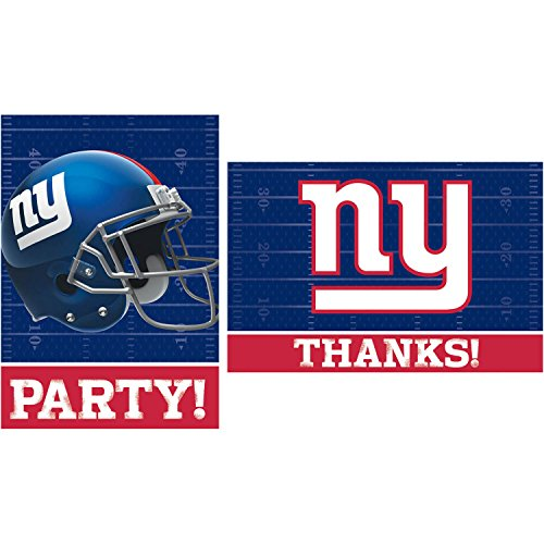 nfl invitation and thank you card set - new york giants