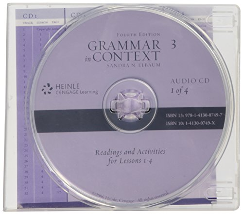 Audio CD for Grammar in Context Book 3