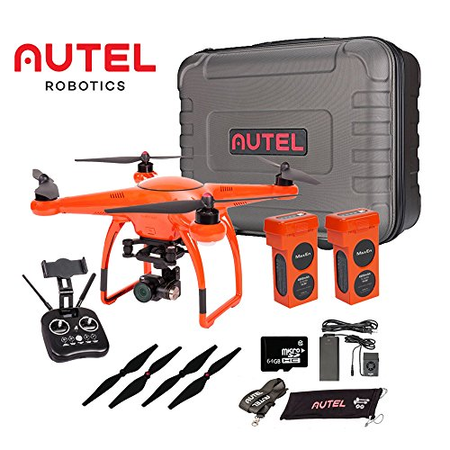 Autel Robotics X-Star Premium Drone with 4K Camera, 1.2-Mile HD Live View & Manufacturer Accessories (Orange) +extra 1x Autel Robotics Battery(Li-Po with 4900mAh, 14.8V)