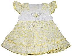 Bisbasta Baby Girl's Dress (fidatoyff1_Yellow_12 to 18 Months)