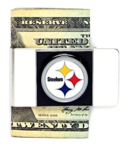 NFL Sculpted & Enameled Pewter Moneyclip - Pittsburgh Steelers