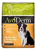 AvoDerm Natural Chicken Meal and Brown Rice Formula Adult Dog Food, 15-Pound