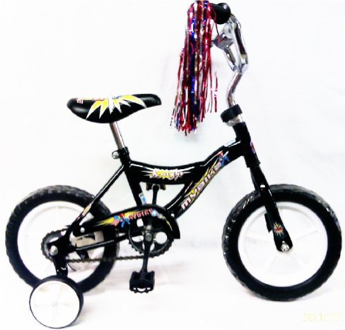 12-inch Children Bicycle W/Training Wheels Color Black for Boy