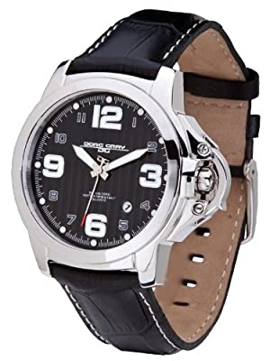 Jorg Gray JG1850-25 Men's Italian Leather Strap Black D