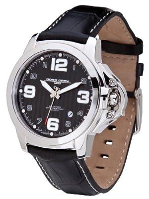 Jorg Gray JG1850-25 Men's Italian Leather Strap Black D