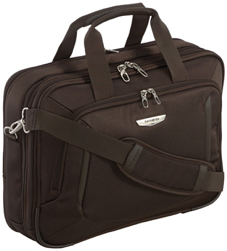 "Samsonite Cartella X'blade Business 2.0 Bailhandle 16"" Exp 18 liters Marrone (Dark Brown) 57816-1251"