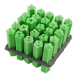 Plastic Screws Fixing Wall Plugs Anchor Green 25 Pcs
