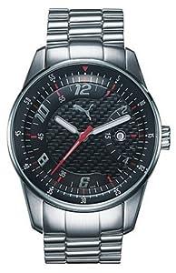 Puma Time - Reloj de cuarzo para mujer con correa de acero inoxidable, color blanco