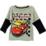 Disney Cars Extreme Racing Grey Toddler Long Sleeve T-Shirt