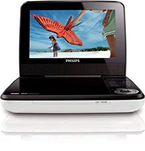 Philips PD7030/05 7-inch Portable DVD Player with Car Adapter included