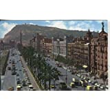 Postal: Barcelona: paseo de colon