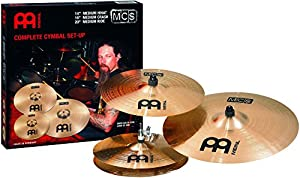 Meinl MCS Complete 14 inch Hihat, 16 inch Crash and 20 inch Ride Cymbal Set