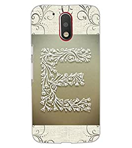 "ColourCraft Alphabet ""E"" Design Back Case Cover for MOTOROLA MOTO G4"