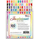 US Art Supply Jewelescent Gel Ink Pens, 60 Colors