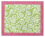 Pink and Green Olivia Accent Floor Rug by Sweet Jojo Designs