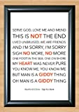 Mumford & Sons 'Sigh No More' Lyrical Song Print Poster Art A4 Size (Typography)