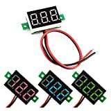 HUAHA 2 Wires DC Voltmeter 0.36