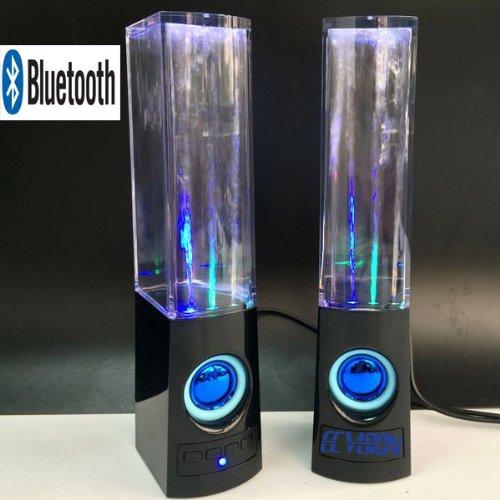 Ecvision Wireless Bluetooth Music Fountain Dancing Water Speakers/Apple Speakers (Black)