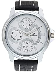 LUCERNE White Dial Analog With Black Strap Wrist Watch For Men