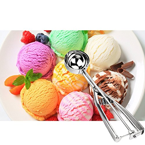 ISUDA Acier inoxydable Scoop pour Ice Cream,3 pièces en acier inoxydable pour Scoop Ice Cream Mash Potato Food Kitchen Craft Métal Cuillère