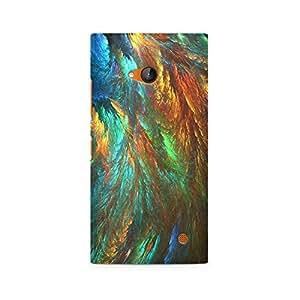 Ebby Peacock Shades Premium Printed Case For Nokia Lumia 730