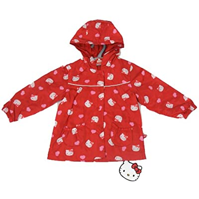 Hello Kitty Rain Coat Mac Red Heart Design 12 Months - 8 Years