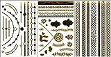 フラッシュ タトゥー メタリック シャイニング ジュエリー / ゴールド シルバー に輝く デザイン タトゥーシール 【 72デザイン 24バリエーションから選べます 】
