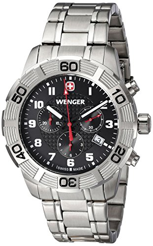 Wenger-Mens-010853102-Roadster-Chrono-Analog-Display-Swiss-Quartz-Silver-Watch