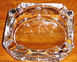Libbey Glass Cigarette Ashtray 3 1/2\