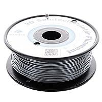 3D Solutech Silver Metal 1.75mm PLA 3D Printer Filament 1.1 LBS (0.5KG) - 100% USA by 3D Solutech