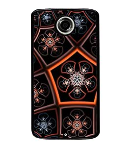 iFasho Animated Pattern design colorful flower in royal style Back Case Cover for Motorola Google Nexus 6
