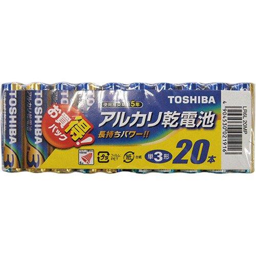 東芝 アルカリ乾電池 単3形1パック20本入