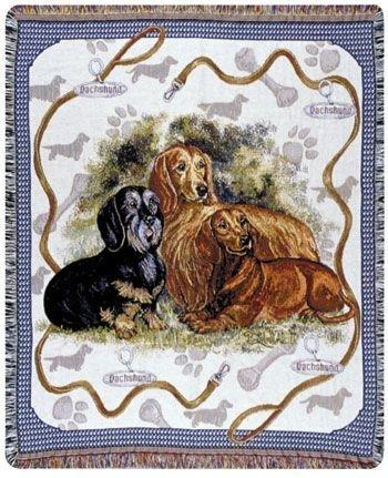 Dachshund Dog Tapestry Throw Blanket 50