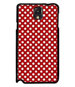 Fuson Premium Small White Circles Metal Printed with Hard Plastic Back Case Cover for Samsung Galaxy Note 3 N9000