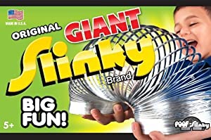 POOF-Slinky 140BL Metal Original Giant Slinky in Box, Silver by Slinky TOY (English Manual)