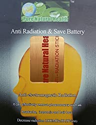 Pure Natural Health Anti Radiation Chip for Mobiles/Tablets/Laptops/Wifi Accessory Kit (Gold) - Electro Magnetic Radiation (EMR) neutraliser