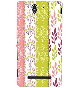 SONY XPERIA C3 LEAFES PATTERN Back Cover by PRINTSWAG
