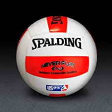 US Open / NeverFlat - Red/White Volleyball
