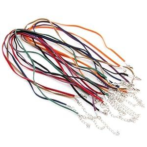 Ecloud Shop 2 pieces Lote 14 unid. 3mm Cuerda de Terciopelo para collar   Comentarios de clientes y más información
