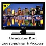 Audiola TVDB 815 Led, Televisore 15 alimentazione 12volt, ideale per Camper, Barca, Hd Ready, registra e riproduce... di Audiola