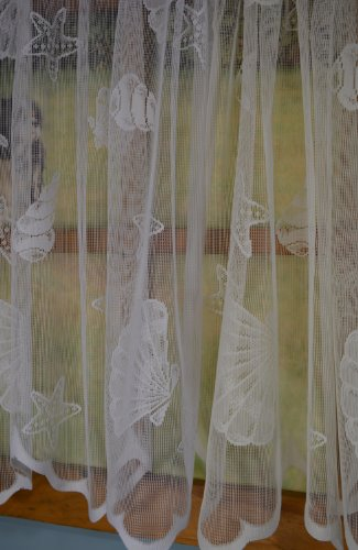 curtain chic seashells lace swag