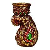 Artistique Antique Design Pasley Tea Light Holder With Beautiful Stone Work - B00R7SFO18