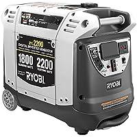 Ryobi RYI2200G 2200 Watt Gasoline Portable Generator (Gray)