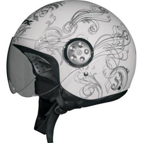 2013 Afx Fx-42A Pilot Vine Women'S Motorcycle Helmets - Wht Sm