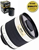 Opteka 500mm 1000mm f 6.3 Telephoto Mirror Lens for Sony Alpha A99 - A77 - A65 - A58 - A57 - A55 - A37 - A35 - A33 - A900 - A850 - A700 - A100 - A200 - A300 - A350 - A230 - A330 - A380 - A450 - A500 - A550 - A290 - A390 - A560 - A580 - A77 - A65 - A57 - A55 - A37 and A33 Digital SLR Cameras