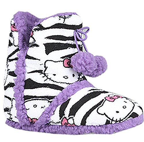 The Hello Kitty Super Plush Bootie in Purple and Zebra