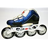 Trurev Mens Carbon Fiber Inline Skates- 4-90 Size 10  10.5 Blue White by Trurev